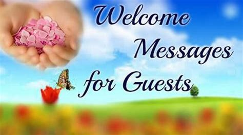 welcome message welcome messages for guests smaple guest welcome message