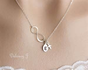 Cross Infinity Necklace Cross Infinity Necklace Initial Necklace Cross Necklace