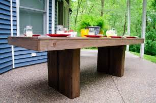 Build Patio Table White Modern Outdoor Patio Table Diy Projects