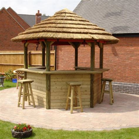 gazebo bar 3 2m thatched wooden tiki garden bar gazebo