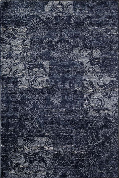 Patch Rug by Rugs America Hudson 7926b Navy Patch Rug