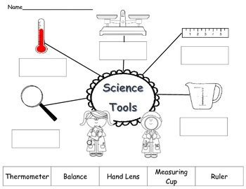 Science Tools Worksheet Kindergarten by Science Tools Cut And Paste Worksheet By Jayme Rahilly Tpt