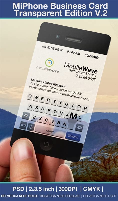iphone business card template iphone business card transparent edition v 2 by cacadoo on