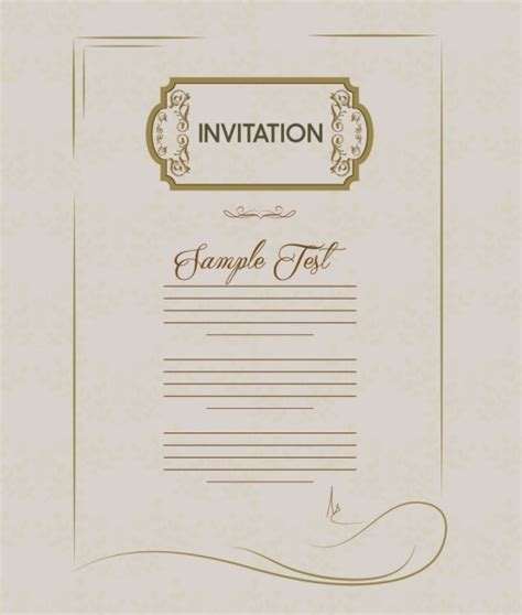 illustrator invitation card template invitation card template retro style free vector in adobe