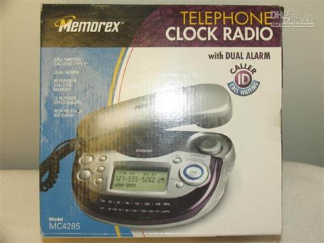 bedside memorex phone clock radio 2 alarm caller id c w cordless phones cellphone from top