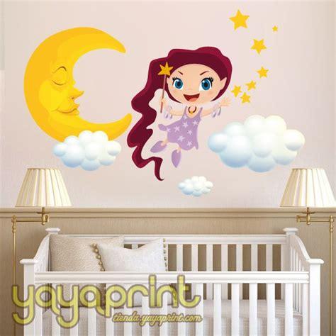 decorar habitacion bebe con nubes vinilo decorativo hada dulces sue 241 os con luna nubes y