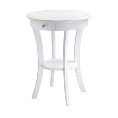 white accent table white round accent table bellacor