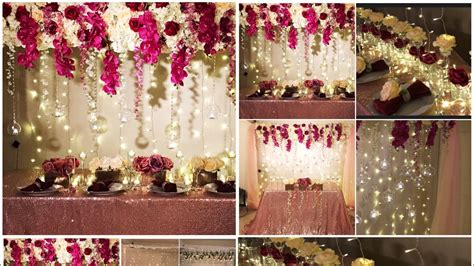 diy long table  backdrop decor diy wedding decor diy