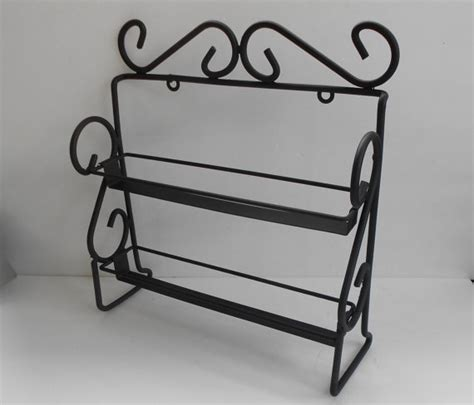 Wrought Iron Spice Rack vintage wrought iron black spice rack large nail