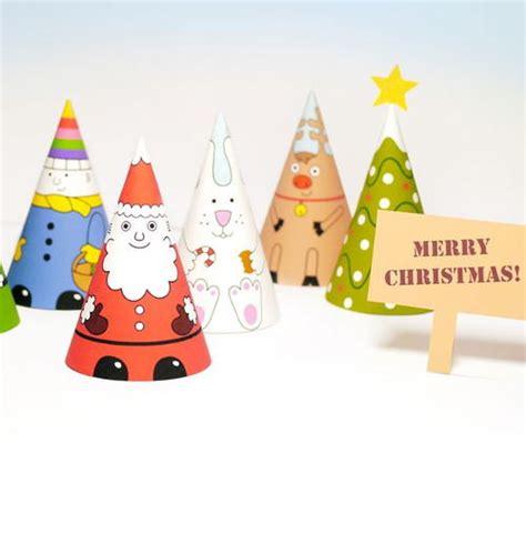 free printable santa paper dolls santa s gang cone paper dolls printable