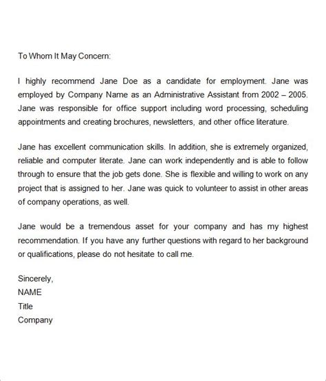 Recommendation Letter Ideas 25 Best Ideas About Reference Letter On Work Reference Letter Sle Of Reference