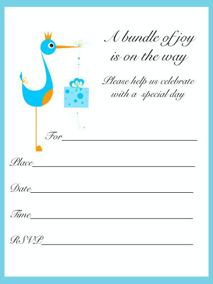 printable baby shower invitations template best template