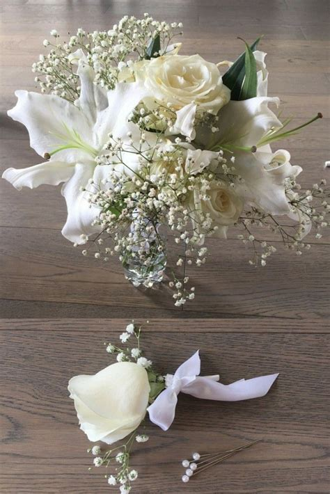 Wedding Bouquet Gypsophila by A Beautiful White Bouquet With Lilies Roses And