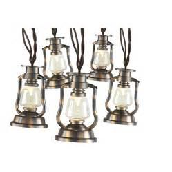 lowes led string lights shop gemmy 12 4 ft brown in led lantern string lights