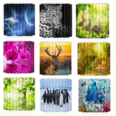 beautiful 3d print shower curtains new designed personality fabric bathroom new 3d printing