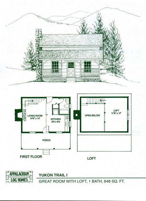 Small Cabin Floor Plan by Log Home Floor Plans Log Cabin Kits Appalachian Log