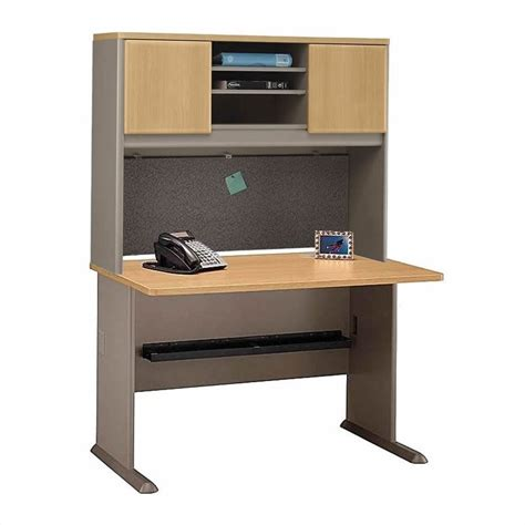 Corner Desk Set Bush Business Series A 7 L Shaped Corner Desk Set In Light Oak Bsa035 643