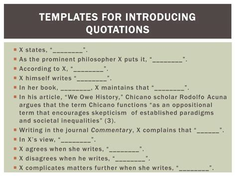 templates for introducing quotations ppt english 101 from a chicano a perspective powerpoint