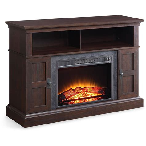 fireplace console whalen media fireplace console for tvs up to 55 weathered