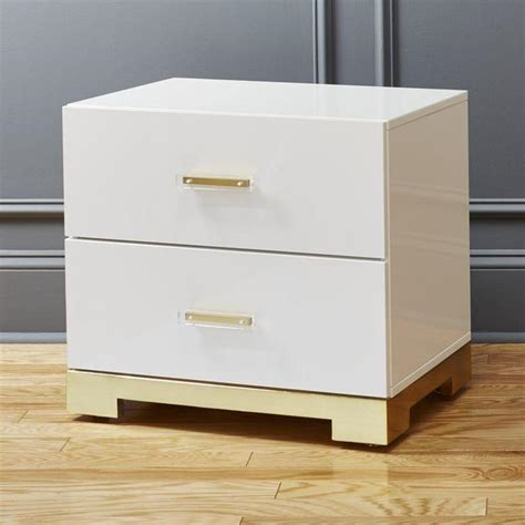 White And Gold Nightstand White Gold 2 Drawer Nightstand