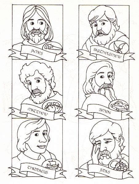 Coloring Page 12 Disciples by Mountain Of Grace Homeschooling The Twelve Apostles Lesson