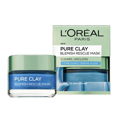Masker Loreal l oreal clay blemish rescue mask 50ml feelunique
