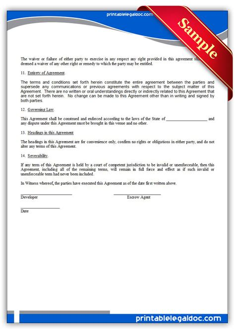 software sales agreement template free printable source code escrow agreement form generic