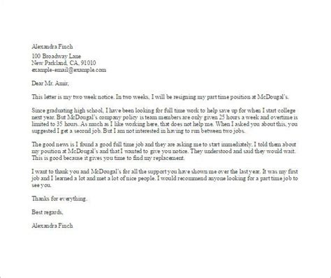 simple resignation letter template word excel