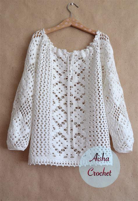 pattern blouses white lace blouse free crochet patterns