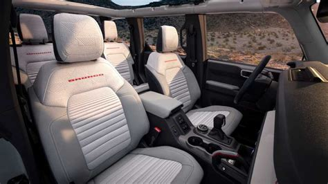 ford bronco white front seats