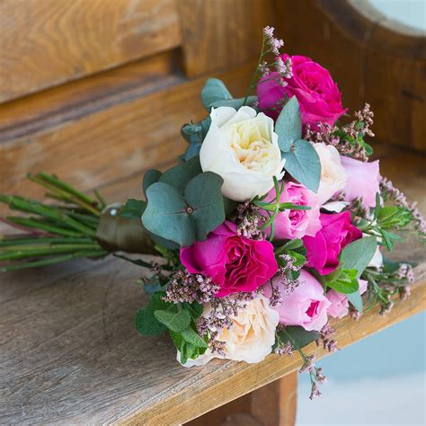And Bridesmaid Flower Bouquets by David Mixed Pink Bridesmaid Bouquet