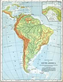 physical features map of south america physical map of south america with rivers