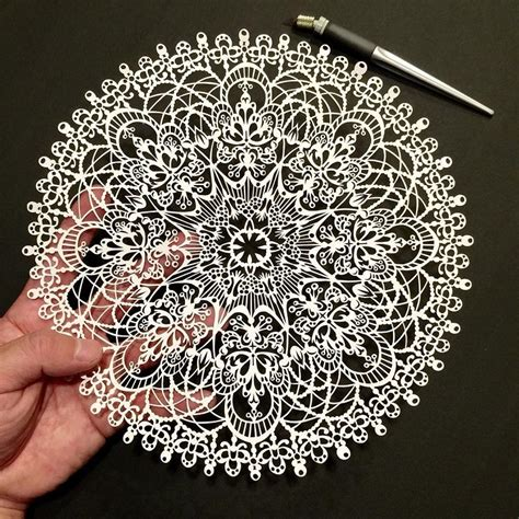 paper cutting intricately detailed papercut designs reflect of