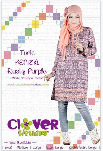 Tunik Julieta By Clover Clothing Blouseatasan Muslim koleksi busana muslimah baju muslim tunik kenizia clover clothing