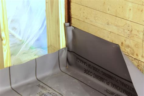 How To Install A Shower Pan Liner by Installing A Pvc Shower Liner