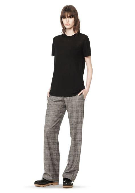 Pakaian Wanita Top Knit Tees wang knit crewneck t shirt top official site