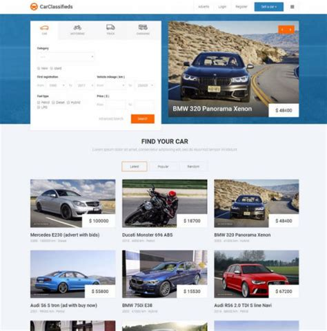 joomla classifieds template jm car classifieds responsive auto