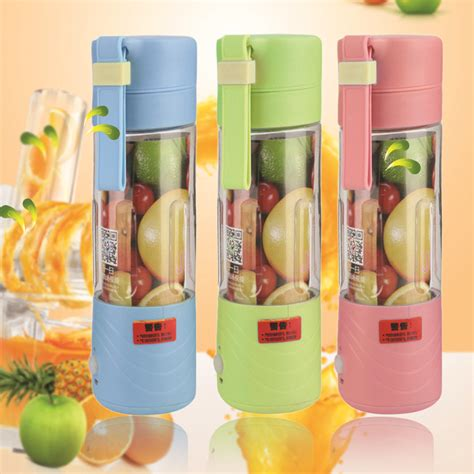 Blender Jus Portable 380ml portable juicer cup rechargeable battery juice blender 380ml usb juicer ekd ebay