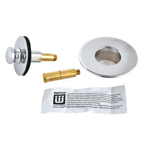 screw in bathtub drain stopper watco nufit push pull bathtub stopper with 3 8 in to 5 16