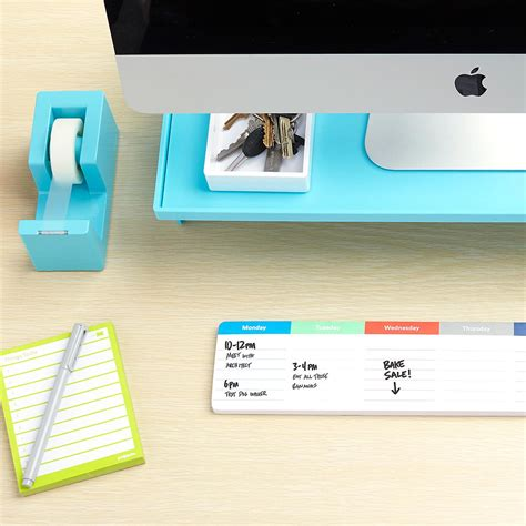 aqua blue desk accessories aqua poppin tape dispenser stapler the container store