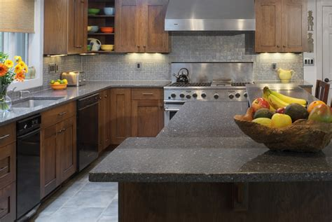 Kitchen Counter Surfaces Icestone Recycled Eco Friendly And Green Kitchen Countertops