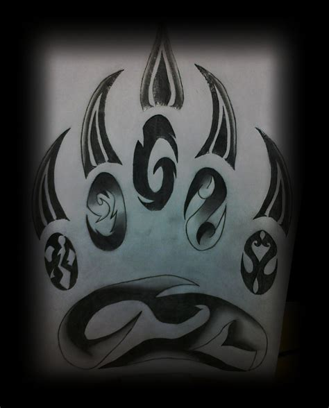 tribal paw tattoo paw by amkb on deviantart