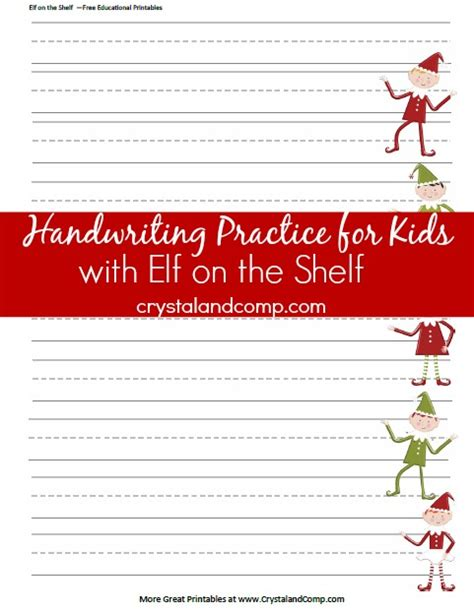 writing papers elves and elf on the shelf on pinterest handwriting practice for kids christmas themed