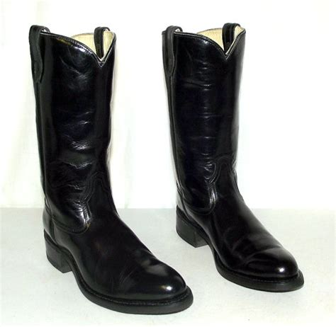 mens patent leather boots black patent leather acme cowboy boots mens size 9 5 b