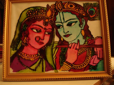 Glass Painting Krishna Outline by Krishna And Radha Archu S Scribbles