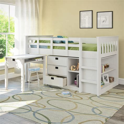 lofted twin bed deion twin low loft bed with storage low loft beds lofts and twins