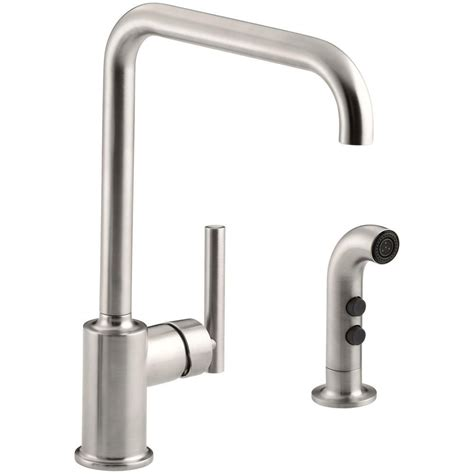 standard kitchen faucet kohler mistos single handle standard kitchen faucet with