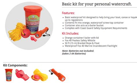 boat safety kit kayak boat options and upgrades