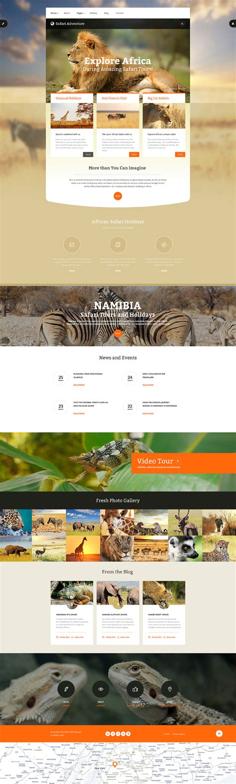 Safari Joomla Template Adventure Website Templates
