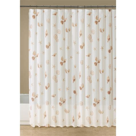 shell shower curtain sofia by sofia vergara chagne dream shower curtain